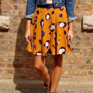 3.1 Phillip Lim Leopard Print A-Line Mini Skirt